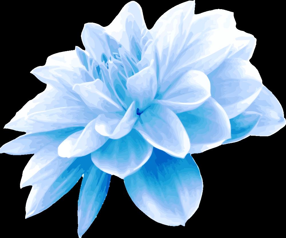 OnlineLabels Clip Art - Blue flower
