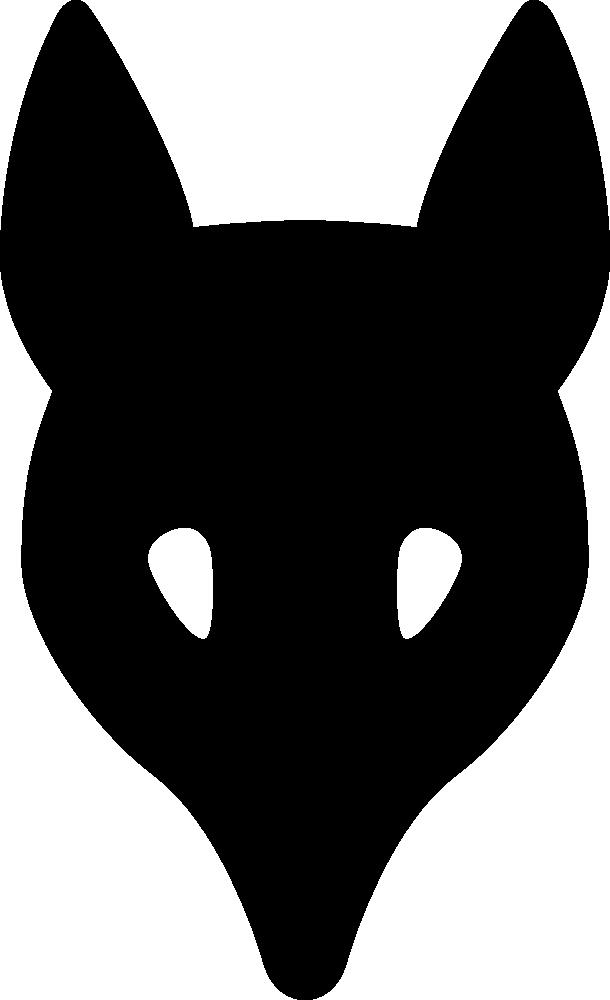 OnlineLabels Clip Art - wolf head silhouette
