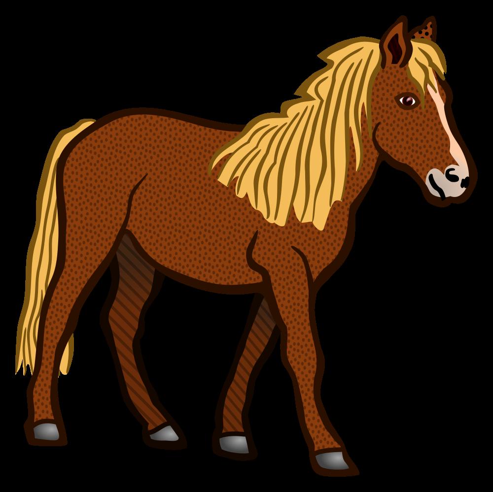 OnlineLabels Clip Art - horse - coloured