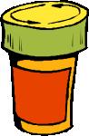 A bottle (for pills)