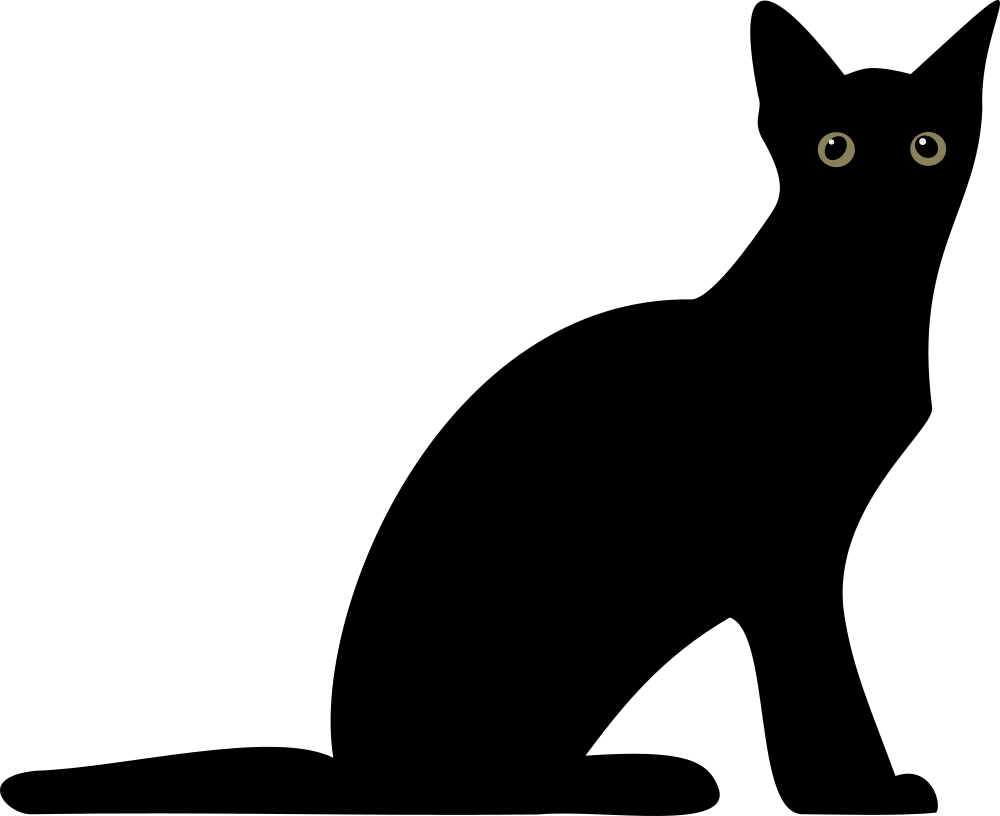 Download OnlineLabels Clip Art - Cat silhouette