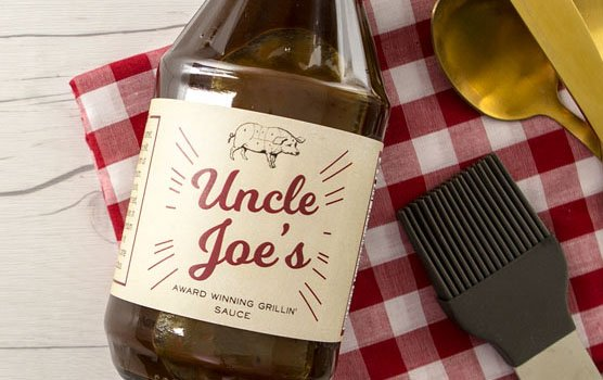BBQ sauce labels in use