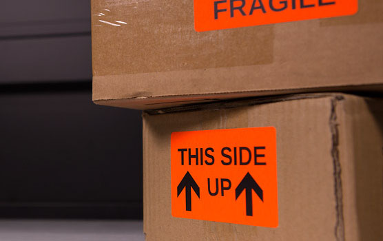 Moving & box labels in use