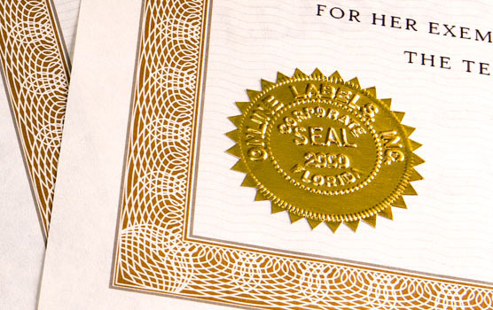 Certificate labels in use