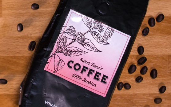 Coffee labels in use