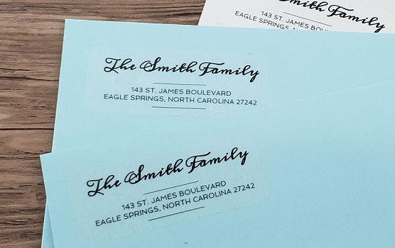 Envelope labels in use