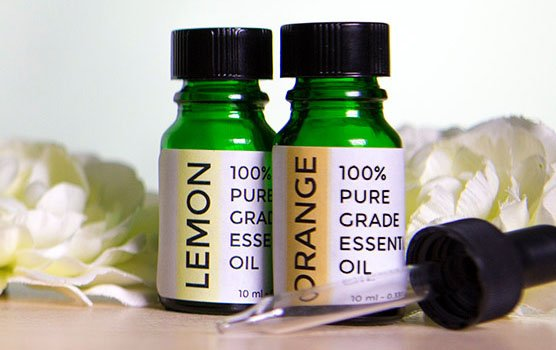 Essential oil labels in use