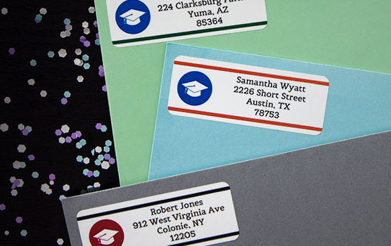Graduation labels in use