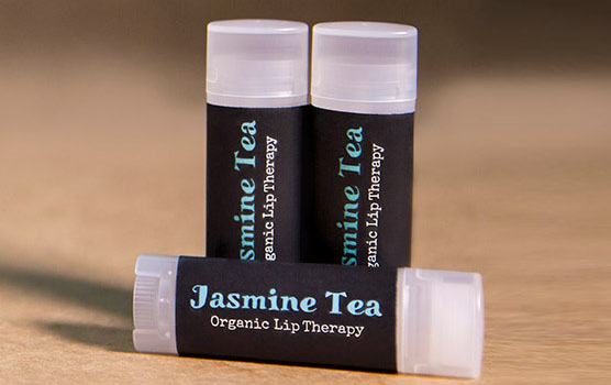 Lip balm labels in use