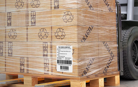 Pallet labels in use