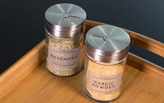 Pantry labels in use