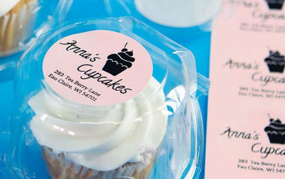 Pastel pink labels
