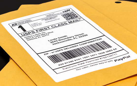 Paypal shipping labels in use