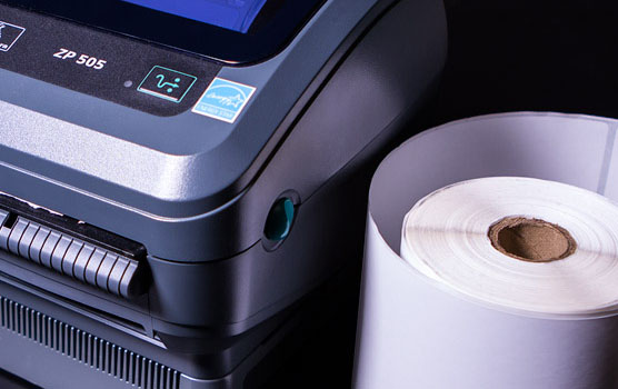 Removable direct thermal labels in use