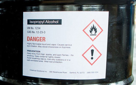 Weatherproof vinyl laser labels in use