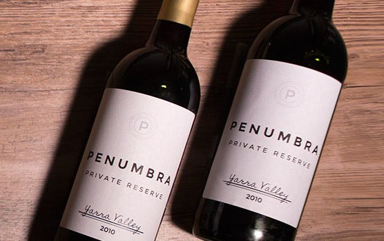 Wine bottle labels in use