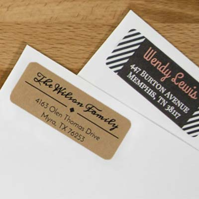 Address labels in use