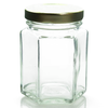 3.75 oz Glass Hexagon Jar Labels thumbnail
