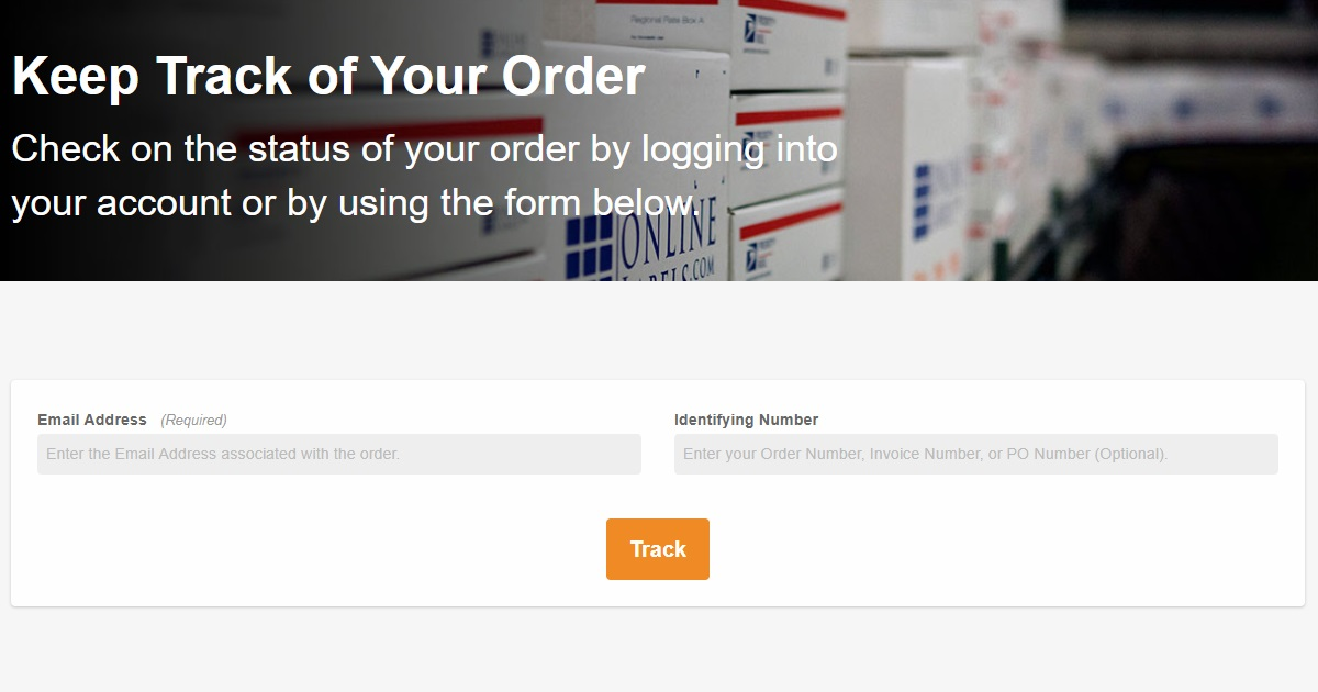Order Tracking page