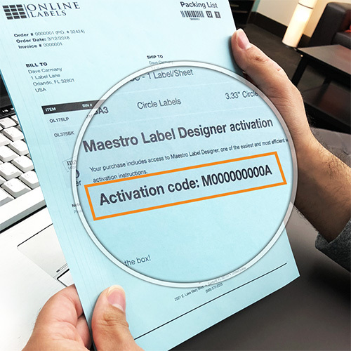 View your code on your order packing slip.