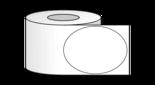 """3"""" x 4"""" Oval Labels on 2"""" Core Inkjet"""