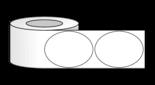 """3"""" x 4"""" Oval Labels on 3"""" Core Inkjet"""