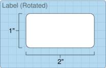 """Roll of 2"""" x 1""""  Inkjet  labels"""