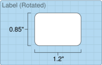 """Roll of 1.2"""" x 0.85""""  Thermal  labels"""