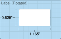 """Roll of 1.165"""" x 0.625""""  Thermal  labels"""