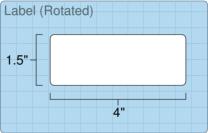 """Roll of 4"""" x 1.5""""  Inkjet  labels"""