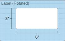 """Roll of 6"""" x 3""""  Inkjet  labels"""