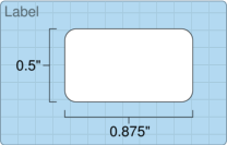 """Roll of 0.5"""" x 0.875""""  Thermal  labels"""