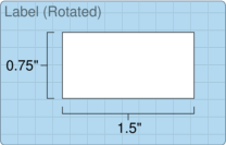 """Roll of 1.5"""" x 0.75""""  Thermal  labels"""