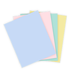 Pastel Labels on Sheets