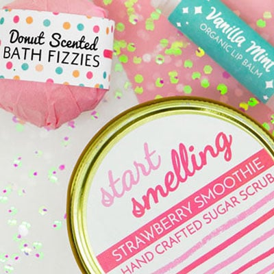 Bath and beauty labels in use